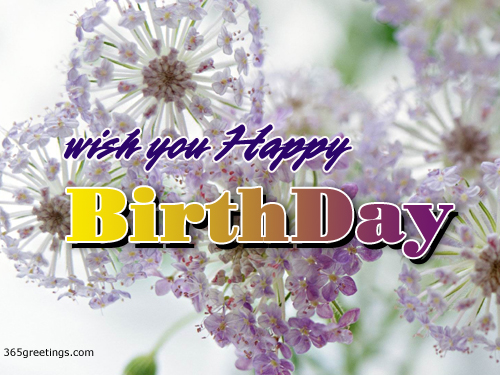 happy birthday  beautiful birthday e card post card from, Beautiful flower
