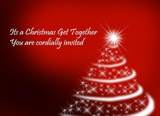 It is a Christmas Get Together From 365greetings – Get Together Party Invitation