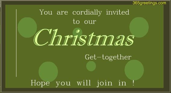Christmas Get Together Invitation Card Post Card From