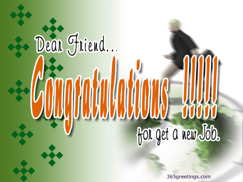 Congratulations on your new job from 365greetings m4hsunfo