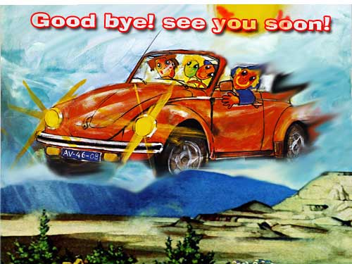 good bye and see you soon post card for your close friend