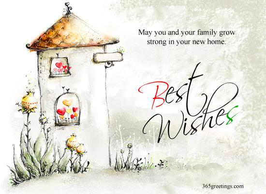 Best Wishes For New Home Post Card From 365greetings Com