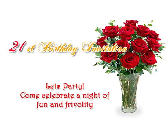 St Birthday Invitation Post Card From Greetingscom - 21st birthday invitation card background