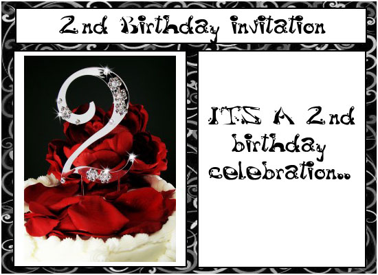 Formal 2nd Birthday Invitation