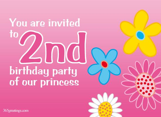 Birthday Invitation for 2nd Birthday From 365greetings.com