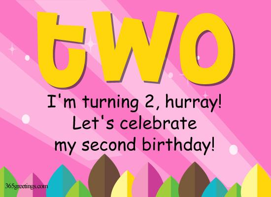 2nd Birthday Invitations For Girls From 365greetings