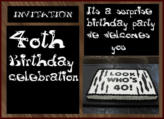 40th Birthday Celebration Invitation From 365greetings
