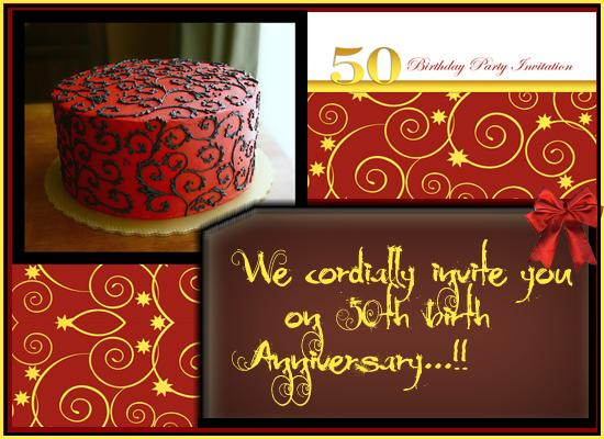 50th Birthday Invitation Card Post Card From 365greetings Com