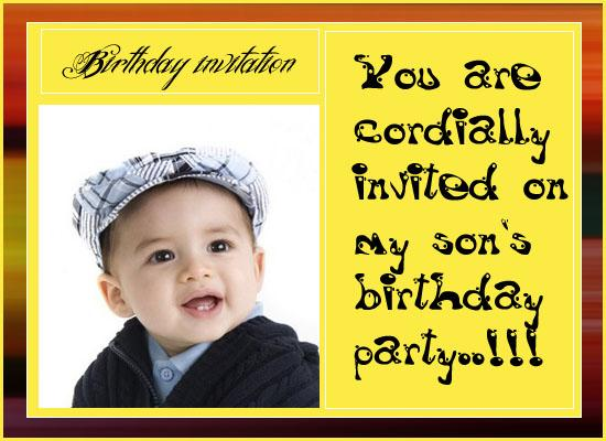 Boys Birthday Invitation Post Card From Greetingscom - Birthday invitation message for son
