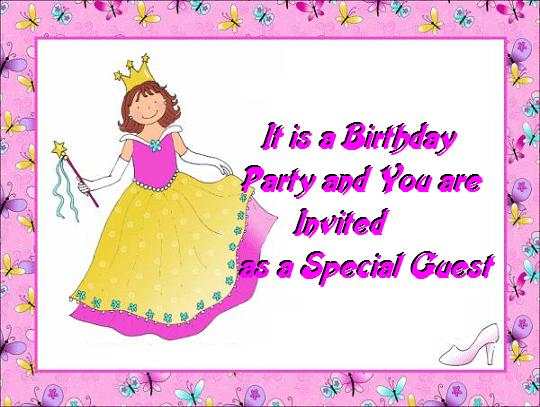 Kids Birthday Invitation Cards