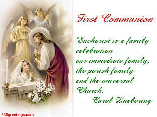 first communion ecard for girls post card from 365greetingscom