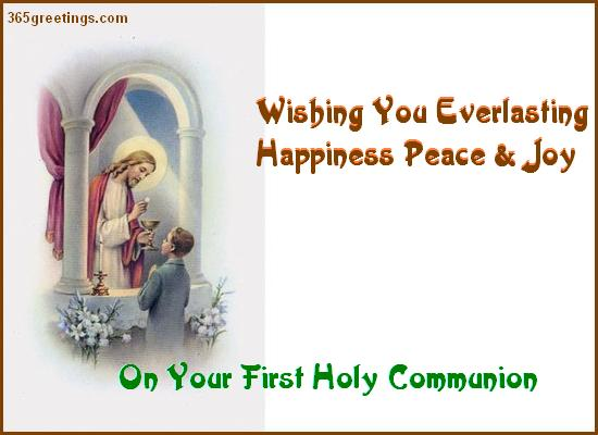 First holy communion wishes happiness peace post card from first holy communion wishes happiness peace post card from 365greetings m4hsunfo