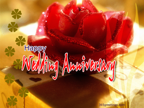 Wedding anniversary e card for friends relative post card from