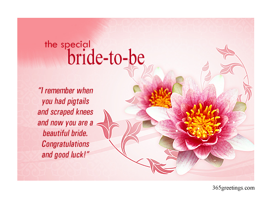 bridal shower greetings post card from 365greetingscom