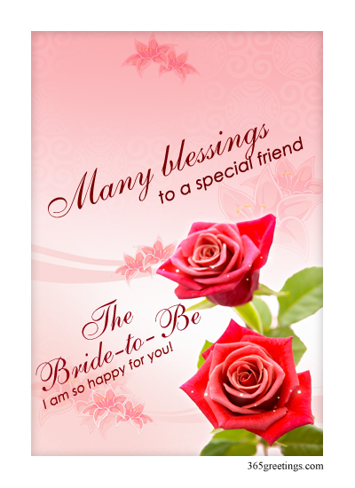 bridal shower blessings post card from 365greetingscom