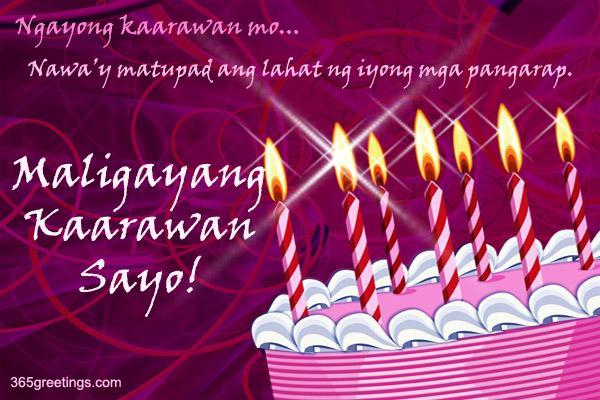 Tagalog birthday ecard from greetings